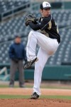 Marian Catholic senior pitcher Jeffrey Leppellere delivers a pitch