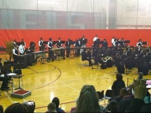 "T.F. South Percussion Ensemble performs ""Conga"""