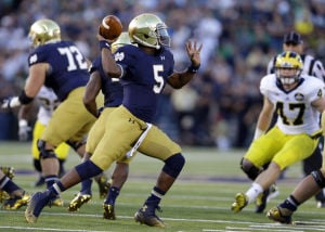 BIG TEN/NOTRE DAME FOOTBALL NOTES: Heisman buzz for Golson already?