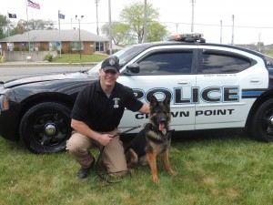 Crown Point officer training with department's third K-9