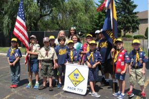 East Side Scouts present colors at Annunciata Fest