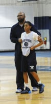 South Suburban women's basketball coach Darrell Scott