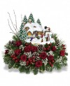 "Thomas Kinkade-Teleflora ""Winter Wonder"" 2012 Floral Keepsake"