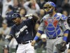 Brewers' Fielder has 4 RBIs to top Cubs