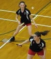 T.F. South's doubles team of Jenna Pasko and Shannon Pollard