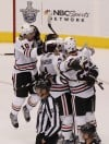 Late-scoring Blackhawks head home with series tied