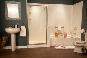 Bathroom safety design for aging generations includes grab bars and improved tubs