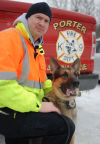 Porter German shepherd trained in search and rescue