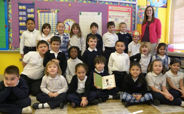 First-graders learn about Abraham Lincoln