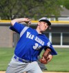 Crete- Monee Varsity pitcher Zack Silerzio