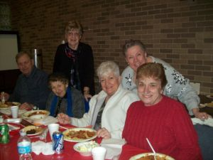 Diners enjoy Knights of Columbus spaghetti dinner