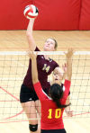 Chesterton vs Andrean, Girls volleyball