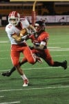 Crown Point sophomore running back Tristan Peterson