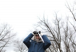 Christmas bird count volunteers try to identify species, numbers of birds