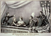&quot;The Assassination of President Abraham Lincoln&quot; Currier and Ives archive illustration