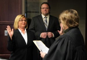 Lisa Moser sworn in as new county court commissioner
