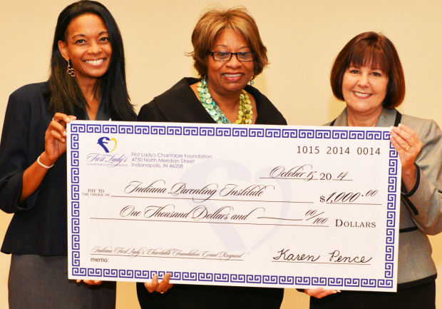 First Lady Karen Pence Awards Grant to Indiana Parenting Institute