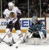 Niemi gets best of Blackhawks in Sharks