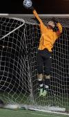 Valparaiso goalkeeper Brenden Gerig makes a save against Chesterton