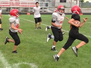 Iron Eagle football and cheer league gives kids a chance to suit up