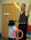 Juggler performs at Crete Library