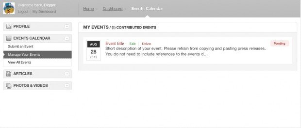 manage events