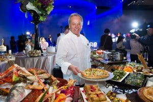 Showy spread: At-home Oscar party fare can have the flair of Wolfgang Puck's menus