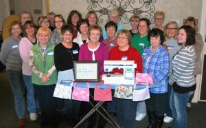 Women gather to sew pouches for surgical patients