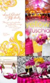 Inspiration Board Yellow &amp; Fuschia