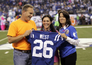 Colts honor LaPorte football player Jake West