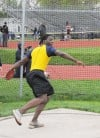 Thornwood junior Derrick Guest competes in the discus