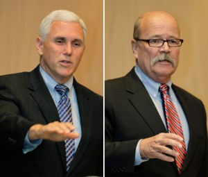 Dems' Gregg smiles while shredding Pence in folksy campaign ads