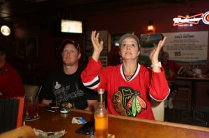 Area Blackhawks fans celebrate Game 6 victory