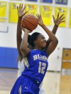 Bloom's Bria Gaines, Crete-Monee's  Ashley Henry