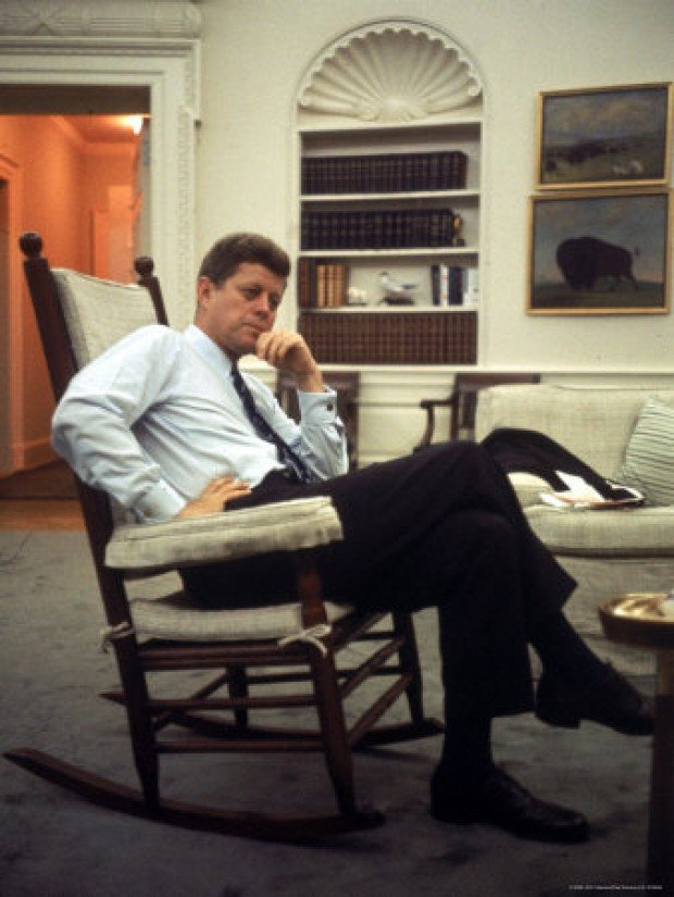 President John F. Kennedy prized his rocking chairs for comfort ...