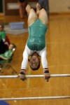 Valparaiso's Steffanie Long peforms on the uneven parallel bars