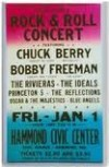 Chuck Berry Concert Poster for Hammond Civic Center in 1960s