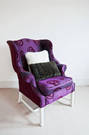 On a budget? Paint it! Worn-out upholstery gets a new lease on life