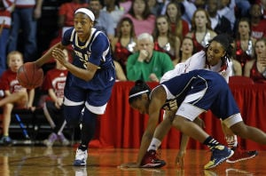 WOMEN'S BASKETBALL: No. 2 ND stays perfect, tops No. 13 'Pack 84-60