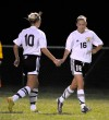 Chesterton's Stephanie Fisher is congratulated by Ashton Balch