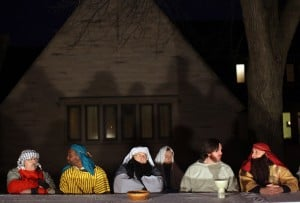 Hammond church continues 30-year tradition of outdoor Last Supper