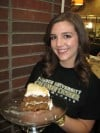Purdue University Calumet Senior Julie Yarusinsky and her Winning Spiced Apple Cake Recipe