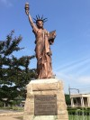 Historic Statue of Liberty replica back on Gary pedestal