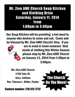 Soup kitchen and clothing