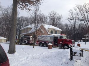 Fire damages Liberty Township home