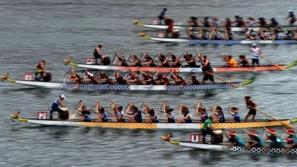 Dragon boat racing at laporte s stone lake laporte news for Laporte news