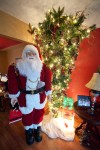 Santa with Inverted Christmas Tree