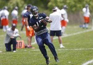 Bears WR Marshall back on field after hip surgery