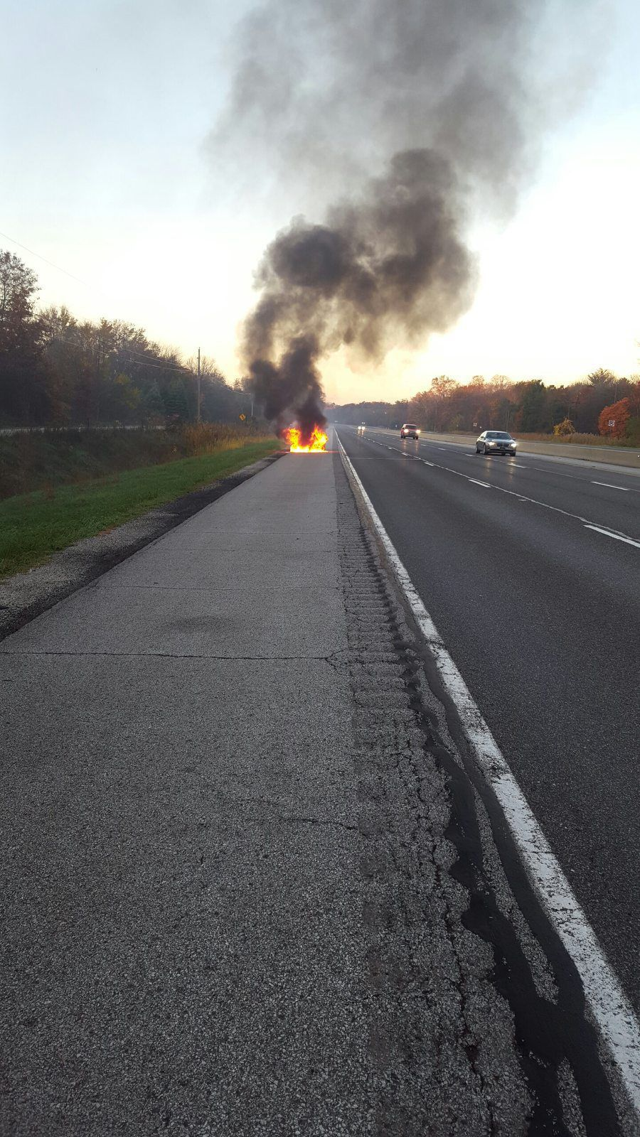 Niles woman contacts rescuer after car fire laporte for Laporte county phone book