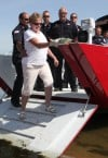 Portage fire boat christened